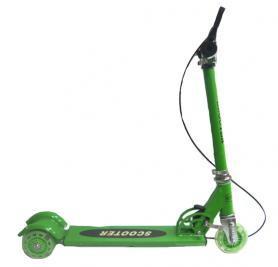 """Самокат детский трехколесный Scooter """"Малыш-3"""" зеленый"""
