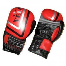 Перчатки боксерские Velo ULI-3043-R кожаные красные