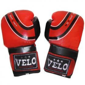 Фото 1 к товару Перчатки боксерские Velo ULI-3041-R кожаные красные