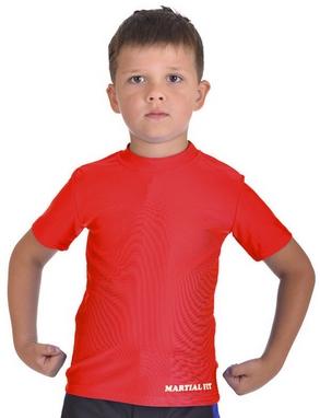 Футболка компрессионная детская Berserk for Kids Martial Fit red