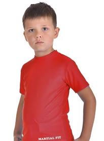 Фото 2 к товару Футболка компрессионная детская Berserk for Kids Martial Fit red