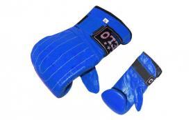 Перчатки снарядные кожанные Velo синие