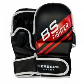Перчатки для смешанных единоборств 7 oz Fighter black
