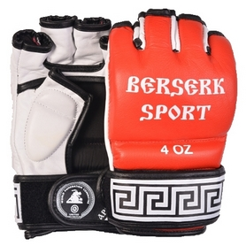Перчатки Berserk Sport Traditional for Pankration Approwed WPC 4 oz red