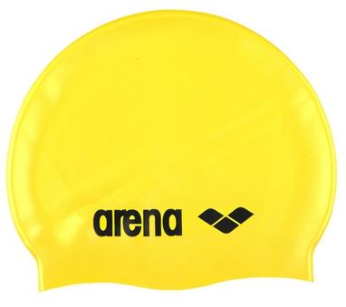 Шапочка для плавания Arena Classic Silicone желтая