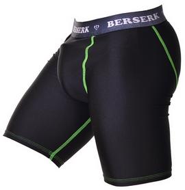 Шорты компрессионные с ракушкой Berserk Legacy green neon black