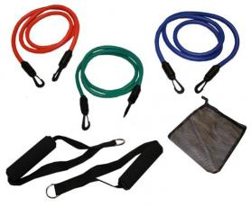 Фото 1 к товару Набор эспандеров для фитнеса Pro Supra FI-309-3