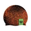 Шапочка для плавания Arena Poolish черно-оранжевая - фото 1