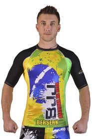 Рашгард Berserk Premier BJJ green/yellow