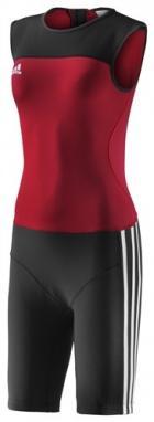 Комбинезон для тяжелой атлетики женский Adidas WL CL SUIT W красный