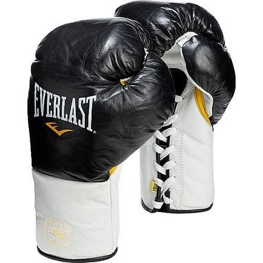 Перчатки боксерские (мексиканского типа) Everlast MX Pro Fight черные
