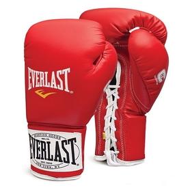 Фото 1 к товару Перчатки боксерские (профессиональные) Everlast 1910 Pro Fight красные