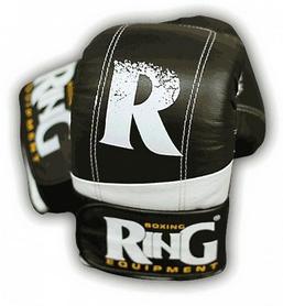 Фото 1 к товару Перчатки снарядные Ring Proff-Line Leather черные с белым