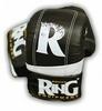 Перчатки снарядные Ring Proff-Line Leather черные с белым - фото 1