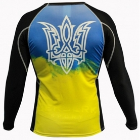 Фото 4 к товару Рашгард для MMA Berserk Ukraine Fighter black