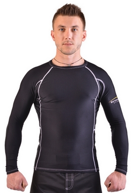 Рашгард для MMA Berserk Legacy Long Sleeve black/white