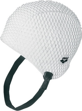 Шапочка для плавания Arena Gauffre белая