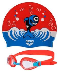 Фото 1 к товару Набор для плавания Arena AWT Multi Set Blue-Red