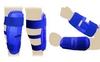 Защита для тхэквондо (предплечье+голень) ZLT BO-4382-B синяя (4 шт) - фото 1
