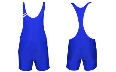 Трико борцовское, тяжелоатлетическое мужское Combat Budo CO-3045-B синее