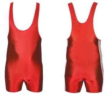 Трико борцовское, тяжелоатлетическое мужское Combat Budo CO-3534-R красное