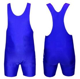 Трико борцовское, тяжелоатлетическое подростковое Combat Budo CO-238-BL синее