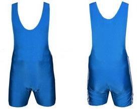 Трико борцовское, тяжелоатлетическое мужское Combat Budo CO-3536-BL синее