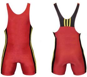 Трико борцовское, тяжелоатлетическое подростковое Combat Budo CO-232-R красное