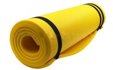 Коврик туристический (каремат) Sport 10 мм желтый