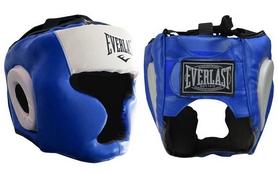 Шлем боксерский с полной защитой Everlast VL-8207-B синий
