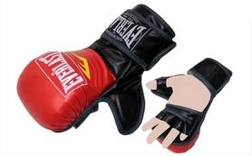 Перчатки для смешанных единоборств MMA Everlast BO-4612-RBK красно-черные - XL