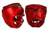 Шлем для единоборств с пластиковой маской Matsa ME-0133-PVC красный - фото 1
