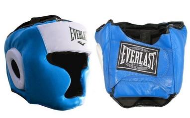 Шлем боксерский с полной защитой Everlast VL-8107-B синий