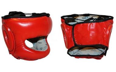 Шлем боксерский с бампером Velo VL-8128-R красный