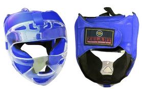 Шлем для единоборств ZLT ZA-01027-B синий - L