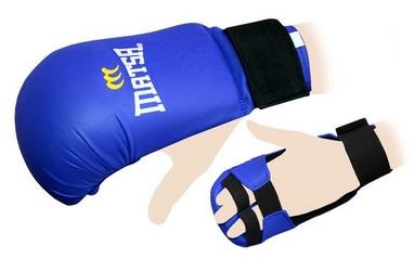 Накладки (перчатки) для карате Matsa MA-0010-BL синие