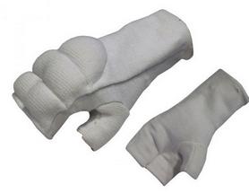 Накладки (перчатки) для карате ZLT BO-1085-W белые - M