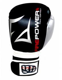 Перчатки боксерские Firepower FPBGA3 черные - 16 Oz
