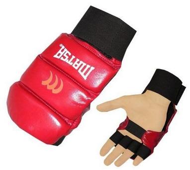 Накладки (перчатки) для карате Matsa MA-1804-R красные