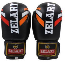 Перчатки боксерские ZLT ZB-4276-BK черные
