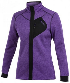 Толстовка Craft Warm Jacket W vision/black