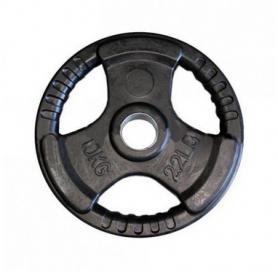 Диск обрезиненный олимпийский 10 кг Marcy с хватами - 51 мм