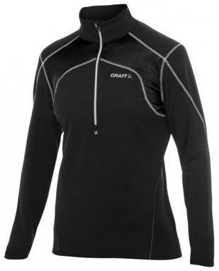 Толстовка Craft Boddymapped Half Zip Pullover W black/white