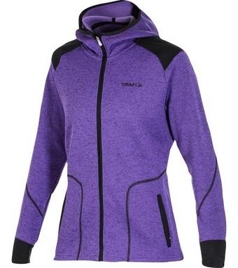 Толстовка Craft Warm Hood Jacket W vision/black