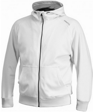 Толстовка женская Craft Flex Hood Full Zip white/silver