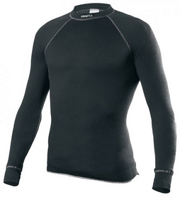 Термофутболка мужская с длинным рукавом Craft Active Crewneck Long Sleeve M black