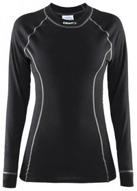 Термофутболка женская с длинным рукавом Craft Active Long Underpants W black - XS
