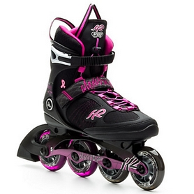 Коньки роликовые K2 Alexis X Pro 2014 черно-розовые