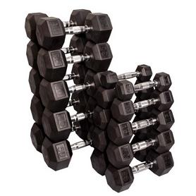 Гантельный ряд гексагональный Body-Solid 10 пар 2,5-25 кг