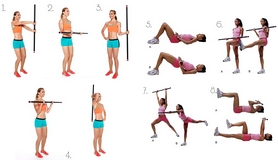 Фото 2 к товару Палка гимнастическая (бодибар) Body Bar Jordan 5 кг